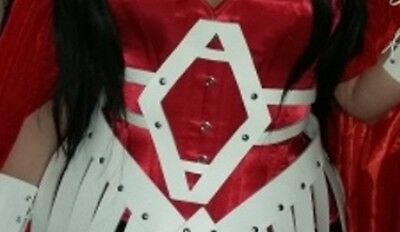 Marvel Lady Sif Quality Custom made Real Leather White belt /Sif emblem Cosplay