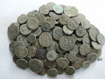 Lot of 100 Lower Quality Uncleaned Ancient Roman;  204 Grams!