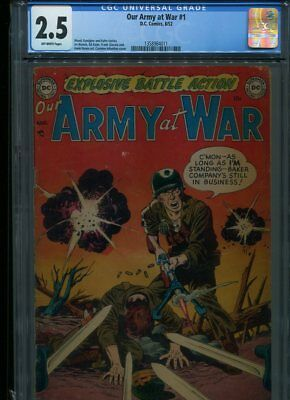 Our Army At War #1 Cgc Affordable Grade Novick Kane Infantino Cover