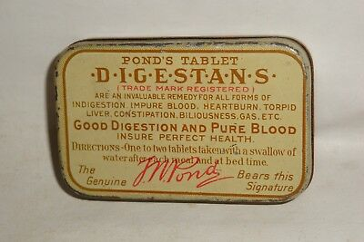 Nice Old Tin Litho Pond's Laxative Advertising Pharmaceutical Medicine Tin Can
