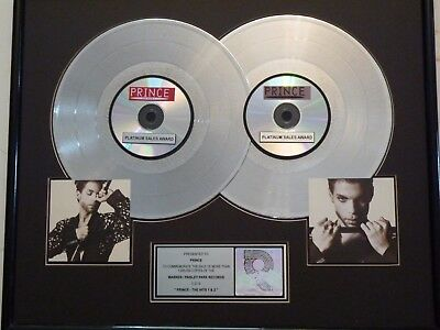"""Prince Certified Riaa  Platinum Gold Lp Record Award Gold Disc """"the Hits-1 & 2"""""""