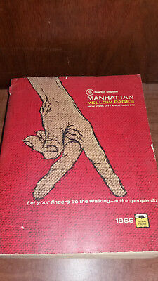 1966 Manhattan Ny Telephone Directory Phone Book Yellow Pages