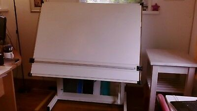 Bridport architect's drawing table with Swanage Parallel Motion - Large 127 X 92