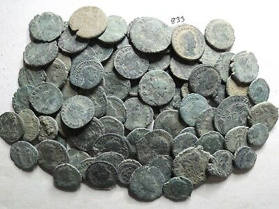 Lot of 80 Mostly Lower Quality Uncleaned Ancient Late Roman;  164 Grams!