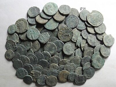 Lot of 90 Mostly Lower Quality Uncleaned Ancient Late Roman;  189 Grams!