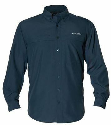 Shimano Long Sleeve Vented Fishing Shirt Upf30+ Slate Xxxl New