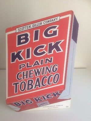 Vintage Original Counter Display Board for Big Kick Plain Chewing Tobacco
