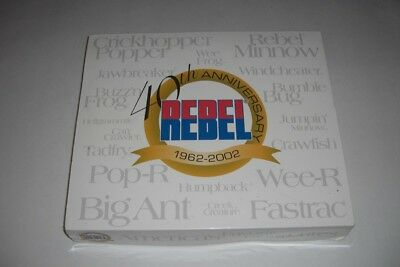 Scarce Rebel 40th Anniversary Holographic Minnow autographed display box