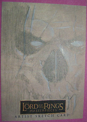 Topps LOTR Lord of the Rings MASTERPIECES sketch card by LEE KOHSE
