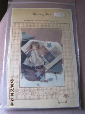 "MORNING STAR Sewing Pattern 8"" Angel Wood Wings & Square Quilt Unused"
