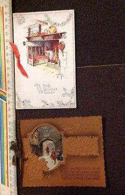 2 Vintage Christmas Cards - 1930s