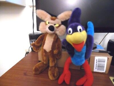 Wiley Coyote And Roadrunner Plush Dolls 1971