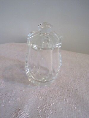 A beautiful crystal cut lidded mustard pot vintage