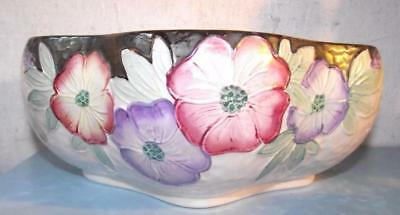 Vintage Art Deco Maling Pottery Fruit Bowl Lustre Finish Newcastle