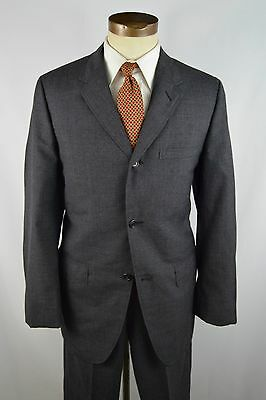 Vintage 1950s/1960s Charcoal 3 Button Hook Vent Suit by Cricketeer Size 40L