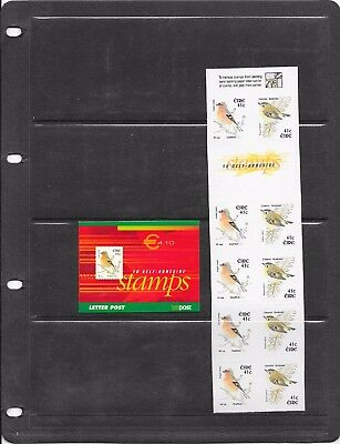 "STAMPS: IRELAND 2002 e4.10 "" BIRDS "" BOOKLET (SB97) (U/MINT)"