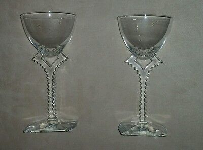 Baccarat Pair Of  Wine Goblets