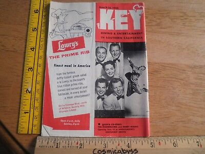 1955 Southern California what to do magazine KEY early Knotts Berry Farm