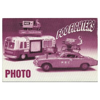 Foo Fighters authentic Photo 1995-1996 tour Backstage Pass