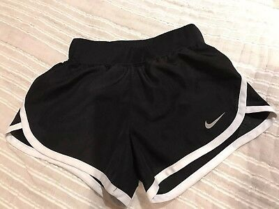 Girls Nike Dri-Fit Shorts Size 5 Black and White slightly used condition