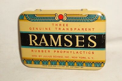 Nice Old Ramses Condom Prophylactic Advertising Pharmaceutical Medicine Tin Can