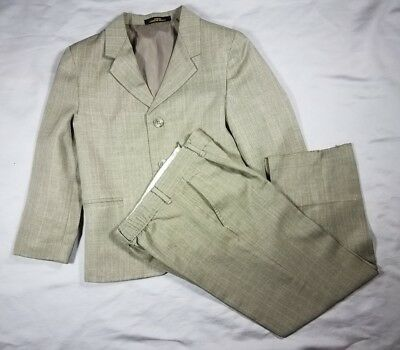 Boys 2pc Suit Light Tan/ Khaki suit size 7