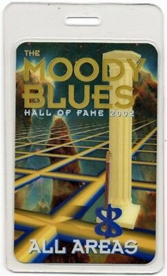 Moody Blues authentic 2001 concert Laminated Backstage Pass Hall of Fame Tour