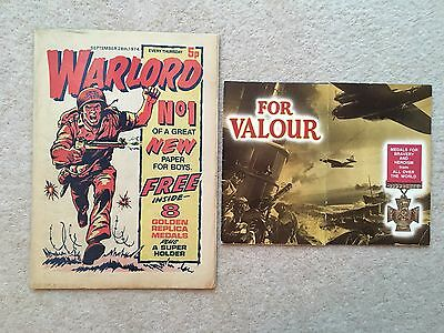 Warlord Comic #1 + Free Gift - September 28Th 1974 - D.c. Thomson