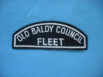1960's BSA Old Baldy Council Fleet Sea Scout BWS Strip twill patch.