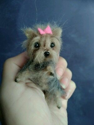 OOAK Needle Felted Miniature Yorkshire terrier puppy/dog