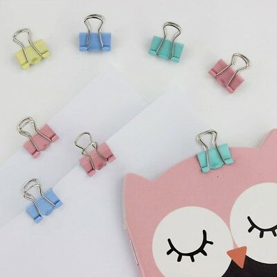 60PCS 15mm Fresh Style Color Metal Binder Clips Notes Letter Paper Books File