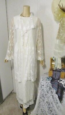 Mother Of The Bride Dress by I.C. Collection-Size Medium Ivory Lace 3 Piece