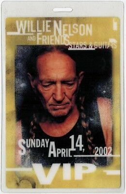 Willie Nelson authentic 2002 concert Laminated Backstage Pass Stars Guitars Tour
