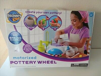Discovery Kids Motorized Pottery Wheel Paint Tile Creative Art Set