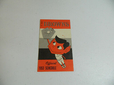 1953 St Louis Browns Last Season Baseball Pocket Schedule Falstaff Beer Mint