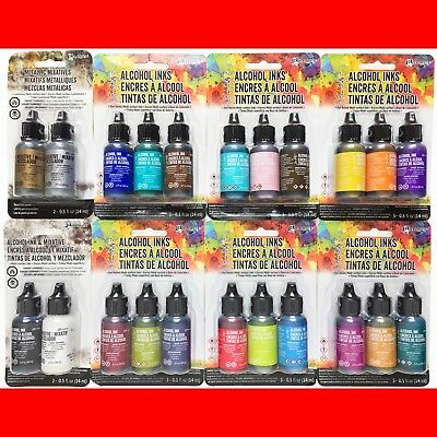 22 LOT of TIM HOLTZ ADIRONDACK ALCOHOL INKS METALLIC MIXATIVES 8 Packages NEW!!