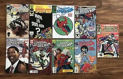 Web Of Amazing Spider-Man Comic Book Lot #'s 1, 18, 301, 359, 583, 700.....
