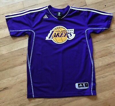 #24 Adidas Los Angeles Lakers Kobe Bryant Purple Short Sleeve youth Large NWOT