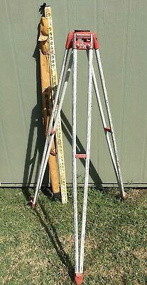 Vintage David White Model 9010 Tripod BERGER Measuring Stick