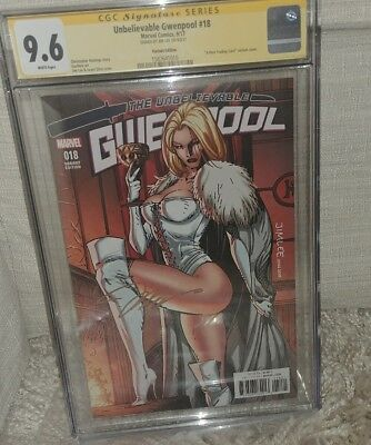 Unbelievable Gwennpool #18 Lee Trading Card Variant CGC SS 9.6 Jim Lee