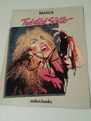 Dee Snider Signed Twisted Sister Fan Book