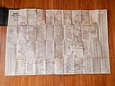 Vintage 1928 Southern Map Company's Complete Map of ATLANTA