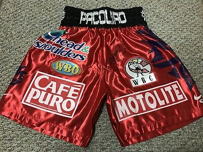 MANNY PACQUIAO SIGNED AUTO BOXING REPLICA SHORTS TRUNKS PSA vs Miguel Cotto NR!