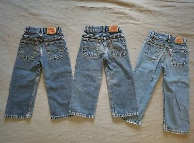 Lot of 3 Levi's 569 Regular Loose Straight Fit, Boys 4S & 4T.  *Free Shipping*