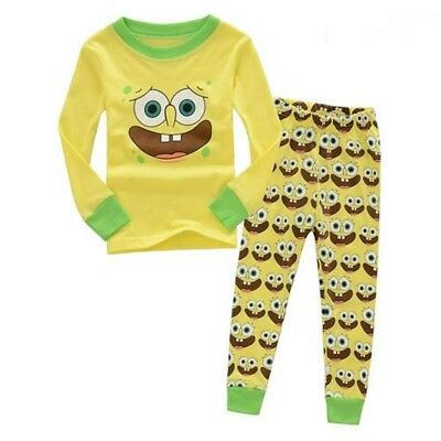 SpongeBob pajamas set 2T kids boys cotton sleepwear pyjamas nightclothes