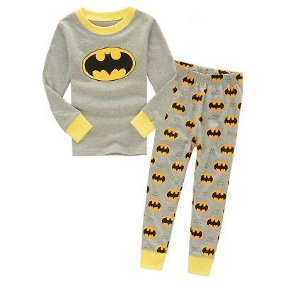 2017 new listing in autumn Kids boys Batman pajamas set 2T cotton sleepwear