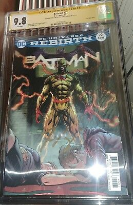 Batman #22 lenticular Cover CGC SS 9.8 signed by Josgua WIlliamson & Tom King