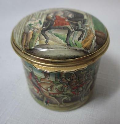 Halcyon Days Enamel Box Commemorating Chaucers Canterbury Tales