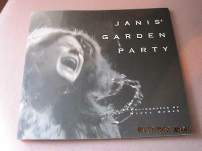 JANIS' GARDEN PARTY Joplin Book Steve Banks Photographer 1998 Calif. NM