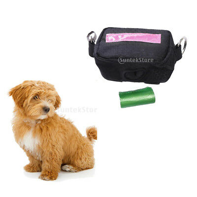 Dog Treat Bag Obedience Traning Snack Food Pocket Pouch Poop Bag Crate Pink